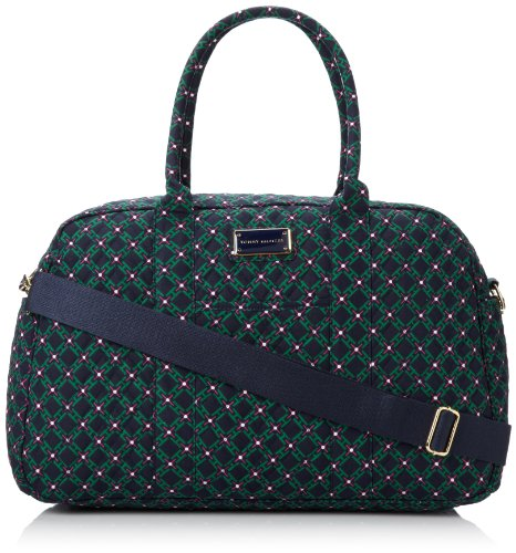 Tommy Hilfiger Printed Large Duffle Bag,Pink/Green Geometric Print,One Size