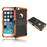 Phone Case 6 plus, iphone 6 Plus Kickstand Case, #1 cell phone Accessory - Slim Fit yet Heavy Duty Rugged Protection, Screen Protector included - No Hassle Guarantee from CacheAlaska® - Orange