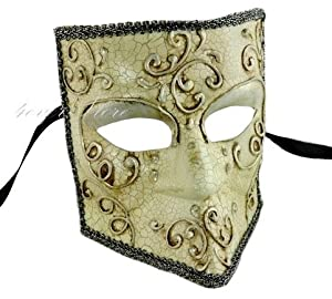 Bauta Mask - Men's Full Face Venetian Masquerade Mask - Halloween Mask, Masquerade Party, Costume by 4everstore