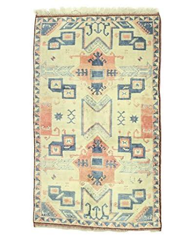 Bashian Hand Knotted Konya Kazak Rug, Ivory, 4' 7 x 7' 7