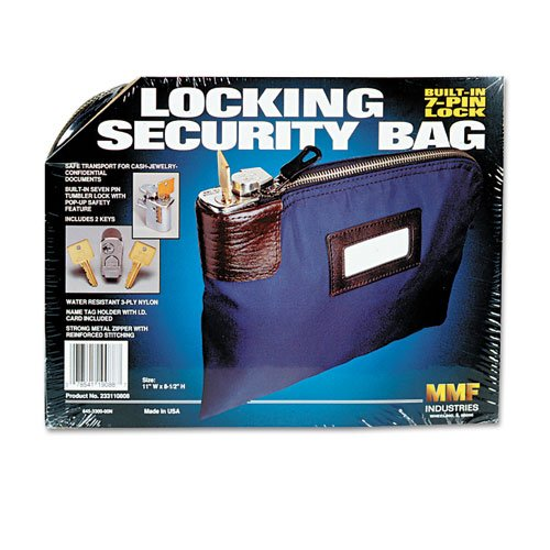 MMF Industries 7 Pin Locking Security Bag for Valuables and Night Deposit with Key Lock (233110808) Picture