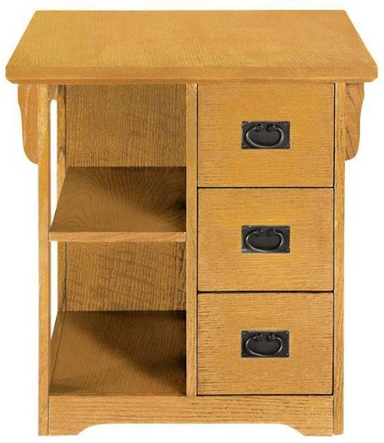 Buy Low Price Craftsman 3 drawer Magazine Side End Table (B000E1HP30)