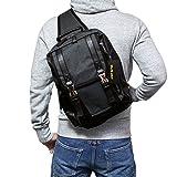(Marib select) ボディバッグ 斜めがけバッグ ポリキャンバス A4サイズ対応 大きめサイズ ビッグボディーバッグ ワンショルダーバッグ ショルダーバッグ 鞄 バッグ iPadも楽々収納 #c231ダークグレー