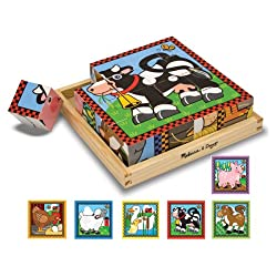 [Best price] Puzzles - Melissa & Doug Farm Cube Puzzle - toys-games