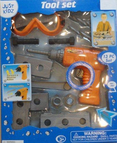 13 Pc Kidz Play Toy Set Tool Kid Boys Educational Pretend Play Work Drill Game !