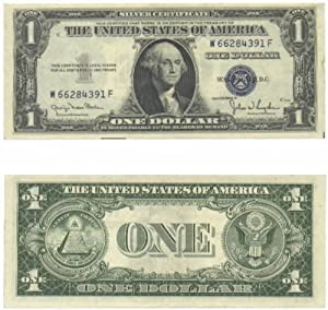 1935-D One Dollar Silver Certificate, narrow margins