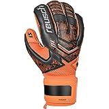 Reusch Soccer Re:Load Prime S1 Goalkeeper Glove, Black/Orange, Size 11