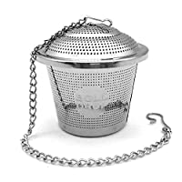 BoldDrop Extra Fine Loose Leaf Tea Infuser / Stainless Steel Filter with Extended 7' Chain (1 pack)