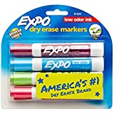 Expo 2 Low-Odor Dry Erase Markers, Chisel Tip, 4-Pack, Fashion Colors