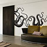 Octopus Tentacles Vinyl Wall Decal Sea Monster Sticker Kraken Decal Squid Wall Graphic Home Art Decoration Black