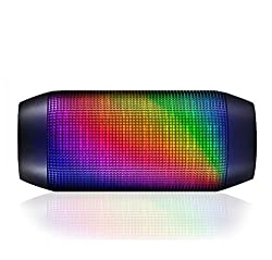 DJ Evana Dynamic Multimedia Flashing LED Stereo Bluetooth Portable Wireless Speaker Compatible With Apple Iphone 5/6/6s Samsung HTC One Plus One Sony Lava Nexus 6p