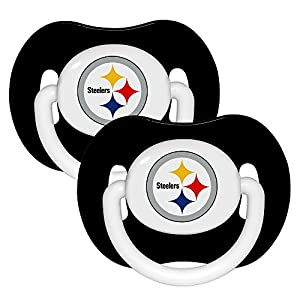 Baby Fanatic Pacifier (2 Pack) - Pittsburgh Steelers from SteelerMania