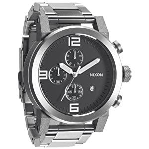 Buy Nixon Mens The Ride Sterling Silver Watch One Size Black by NIXON