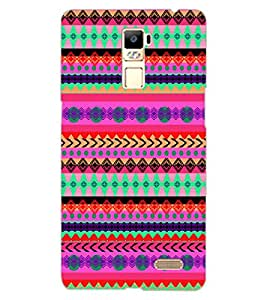 ColourCraft Tribal Pattern Design Back Case Cover for OPPO R7