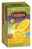 Celestial Seasonings Herbal Tea, Caffeine Free, Lemon Zinger, 20 tea bags [1.6 oz (45 g)]