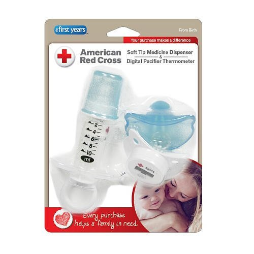 American Red Cross Soft Tip Medicine Dispenser & Pacifier Thermometer