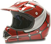Youth Offroad Gear Combo Helmet Gloves Goggles DOT Motocross ATV Dirt Bike MX Spiderman Red, X-Large from Typhoon Helmets