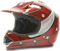 Youth Offroad Gear Combo Helmet Gloves Goggles DOT Motocross ATV Dirt Bike MX Spiderman Red, Medium by Typhoon Helmets