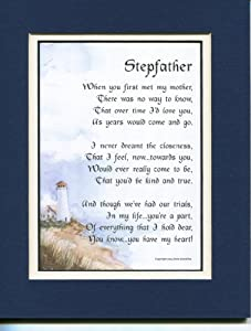 Amazon.com: Gift For A Stepfather. #26, Touching 8x10 Poem