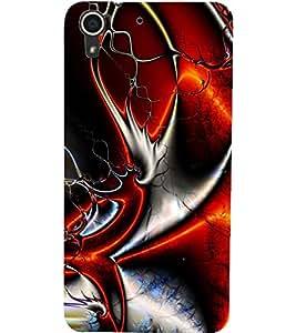 PrintDhaba NEW ERA ART D-6410 Back Case Cover for HTC DESIRE 728 (Multi-Coloured)