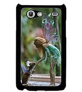 ColourCraft Angel and Friend Design Back Case Cover for SAMSUNG GALAXY S ADVANCE I9070