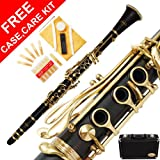 160-BK-N - BLACK EBONITE/LACQUER Keys Bb B flat Clarinet Lazarro+11 Reeds,Case,Care Kit~24 COLORS Available,CLICK on LISTING to SEE All Colors