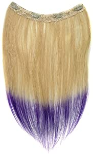 Tressecret Ombre Tail Dip-Dye Clip In Extension, 16 inches 18 inches, Blonde and Purple