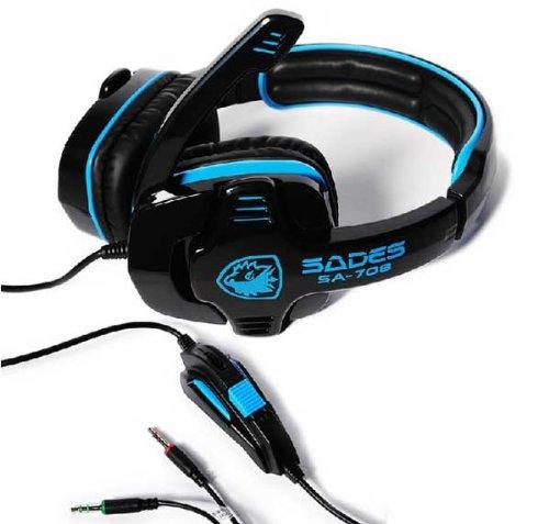 Zps Sades Stereo Headset Headband Pc Notebook Pro Gaming Headset Hidden Microphone