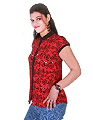 Selfi Red Solid Top