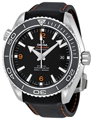 Omega Men's 232.32.46.21.01.005 Seamaster Planet Ocean Black Dial Watch