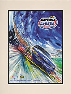 NASCAR Matted 10.5 x 14 Daytona 500 Program Print Race Year: 49th Annual - 2007 by Mounted Memories