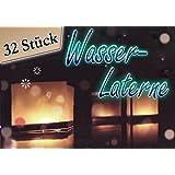 Lot de 32 lanternes flottantes pour bougies à chauffe-plat, en papier, 15 cm