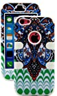 myLife (TM) White + Colorful Abstract Paisleys 3 Layer (Hybrid Flex Gel) Grip Case for New Apple iPhone 5C Touch Phone (External 2 Piece Full Body Defender Armor Rubberized Shell + Internal Gel Fit Silicone Flex Protector + Lifetime Waranty + Sealed Inside myLife Authorized Packaging Only) Attention: This case comes grip easy smooth silicone that slides in to your pocket easily yet won't slip out of your hand