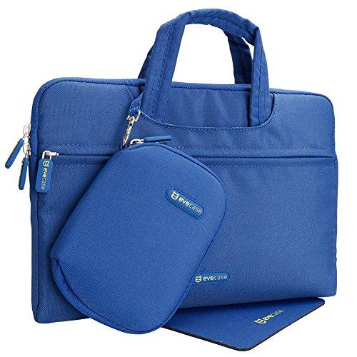 Evecase 11.6 Pollici Custodia Borsa Protettiva in nylon per tablet e portatile da 11 Pollici, con Tappetino per mouse e Accessori Borsa- Blu
