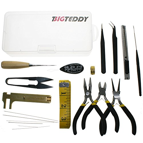 BIGTEDDY - 19pcs Beading Jewelry Making and Repair Tools Kit w/ Box