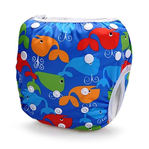 Storeofbaby Children Swimwear Swimming Trunks for Baby Adjustable Infant 0 3 Years (Heavy Blue)