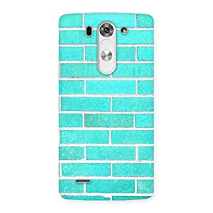 Premium Brick Cyan Back Case Cover for LG G3 Beat