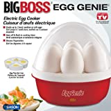 Big Boss 8863 Egg Genie Electric Egg Cooker, Red