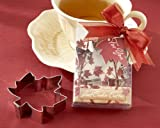 Fall Leaf Cookie Cutter in Autumn-Themed Gift Box - Baby Shower Gifts & Wedding Favors (Set of 24)