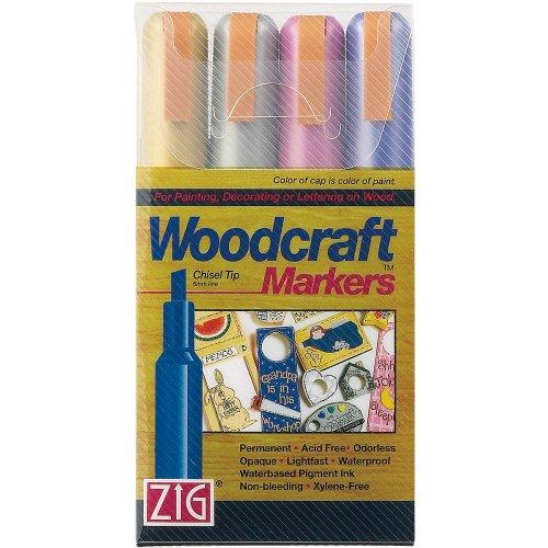 Zig Woodcraft Chisel Tip Markers, Metallic