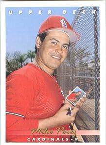 1993 Upper Deck #204 Mike Perez - St. Louis Cardinals (Baseball Cards)