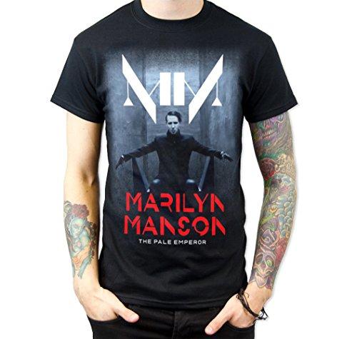 Rockstar Reo Men's Marilyn Manson the Pale Emperor T-shirt (X-Large)