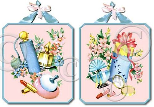 Items 3051 Signs Fifties Style Pink Dressing Bath Room Plaques