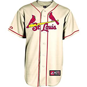 Majestic Athletic St. Louis Cardinals Blank Replica Alternate Jersey by Majestic Athletic