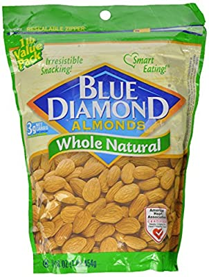 Blue Diamond Almonds Whole Natural, 16 oz. from Blue Diamond