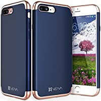 iPhone 7 Plus Case, Vena [Mirage][Chrome] Dock-Friendly Slim Fit Hard Case Cover for Apple iPhone 7