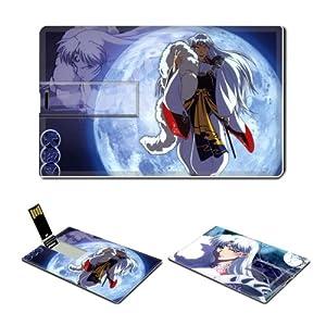 16GB USB Flash Drive USB 2.0 Memory Credit Card Size Anime Inuyasha Comic Game Customized Support Services Ready Sesshoumaru 003