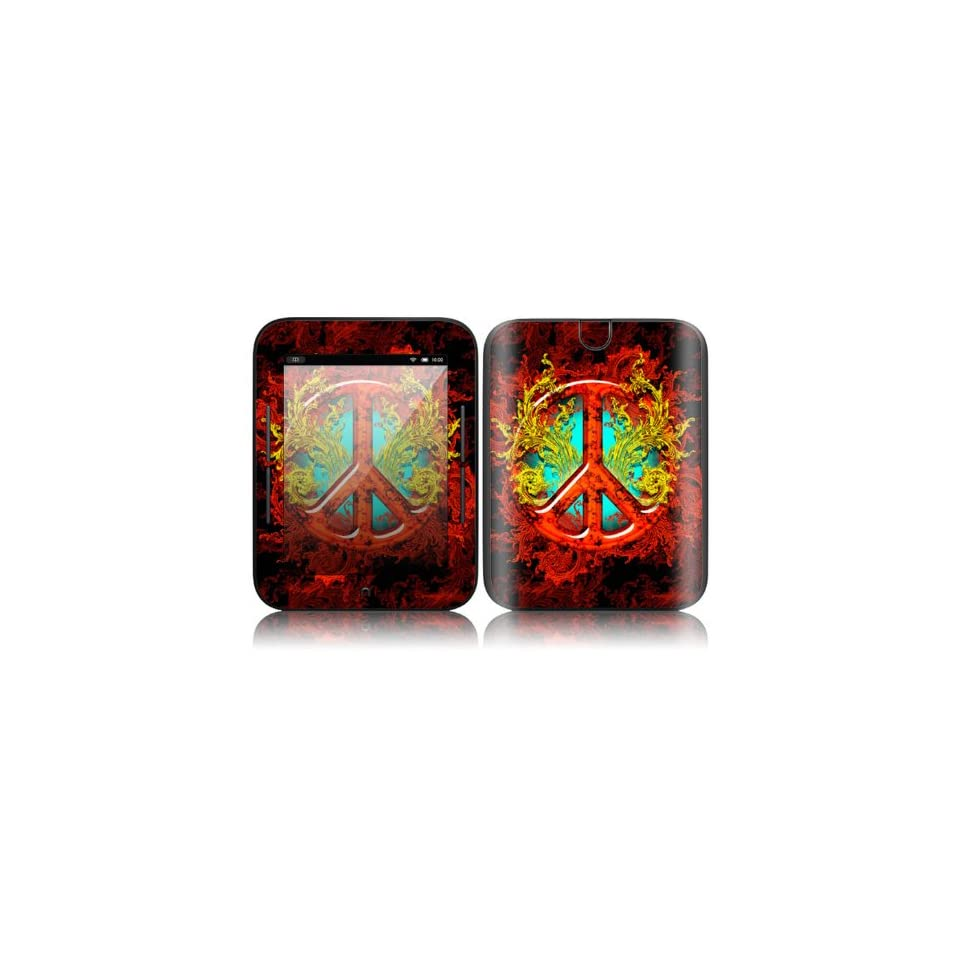 Flaming Peace Design Decorative Skin Cover Decal Sticker for  NOOK Simple Touch 6 inch Touchscreen eBook Reader