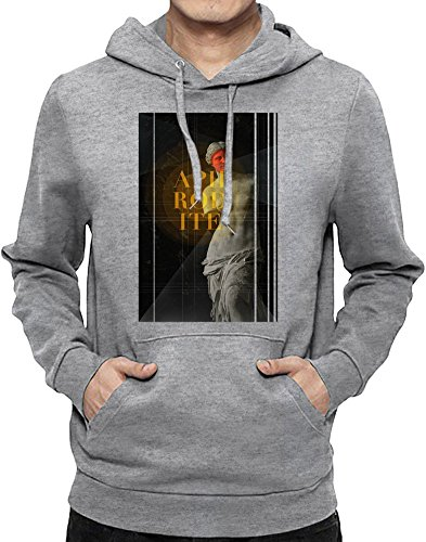 Aphrodite Hoodie Sweatshirt For Men  Custom -Printed Hooded Jumper W/ Brushed Inside  80% Cotton- 20% Polyester  Premium Quality DTG Printing  Unique Clothing By Teezer Tee (Roman Godess)