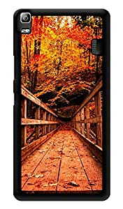 "Humor Gang Vintage Wooden Bridge Printed Designer Mobile Back Cover For ""Lenovo A7000 - Lenovo A7000 Plus - Lenovo A7000 Turbo - Lenovo k3 note"" (3D, Glossy, Premium Quality Snap On Case)"